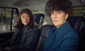 Shaw with Sandra Oh in the first series of Killing Eve.