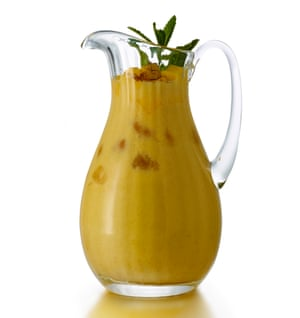 Perfect for an Indian summer? Mango lassi with a spicy kick.