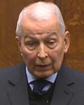 Frank Field speaks in the Commons.