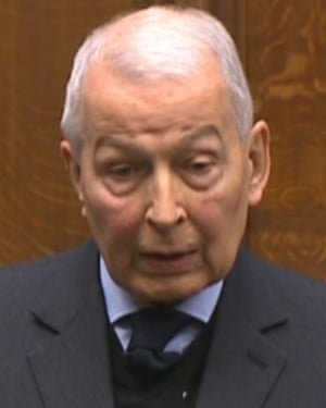 Frank Field speaks in the Commons.