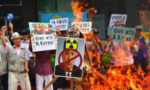 South Korean conservative activists