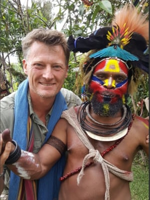 Benedict Allen with villager Howard during a previous trip to Papua New Guinea.
