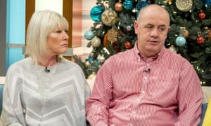 Former Chelsea player Gary Johnson, right, with his wife Maryce during an appearance on ITV's Good Morning Britain