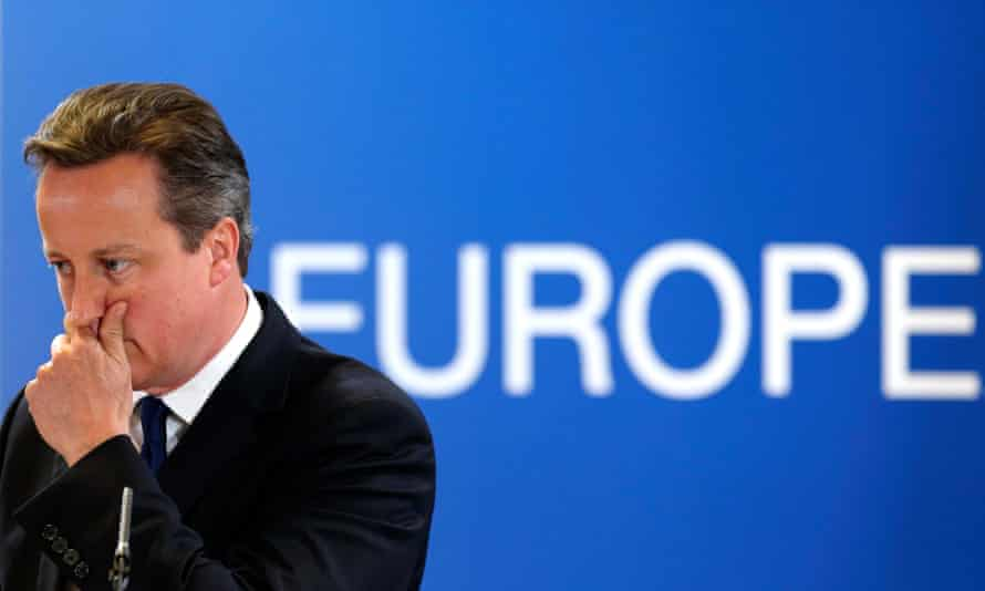David Cameron at an EU leaders' summit in Brussels, 2014