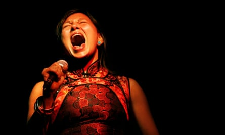 The Inuit throat-singer Tanya Tagaq on stage