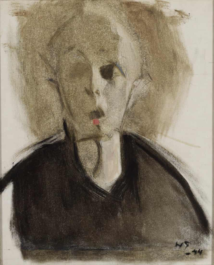 Helene Schjerfbeck, Self-portrait with Red Spot, 1944.