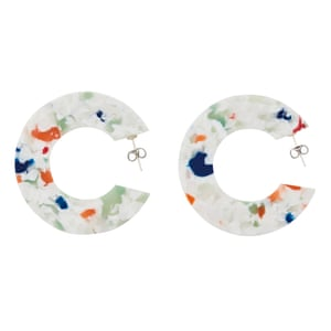 AYMBio cellulose acetate is used to handcraft their jewellery, which is 100% free of petroleum, lead, cadmium and phthalates. They use zero-waste packaging, too. GBP42, aym-store.com