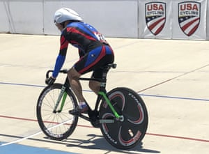 Carl Grove in action at the 2018 USA Cycling Masters Track Nationals