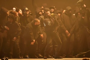 Kanye West performs his new song All Day