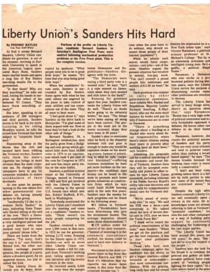 A Sanders profile from 4 July 1976.