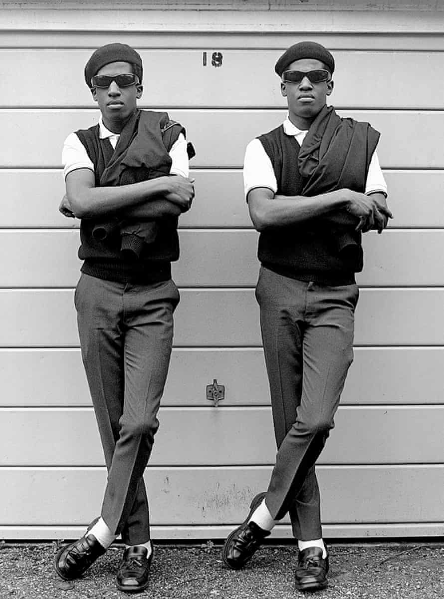 'They used to entertain people with a boombox': The Islington Twins, London, 1981.