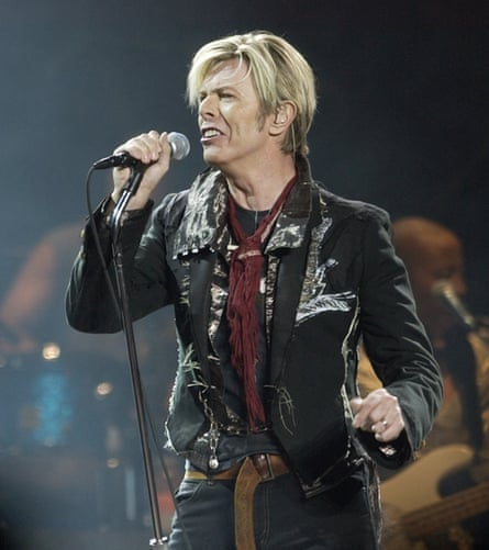 Bowie on the Reality tour in New York, 2003.