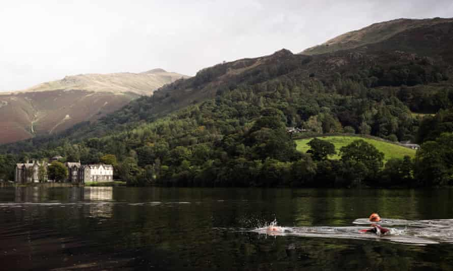 Swimmer in the Lake District on a SwimTrek Lakes and Tarns Weekender