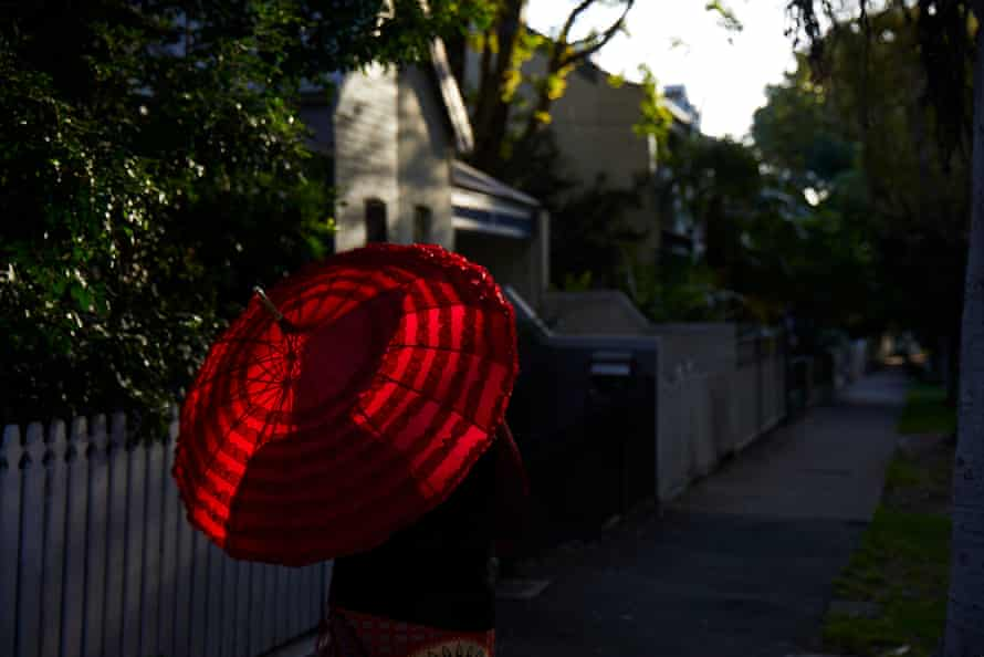 Wotton's red umbrella