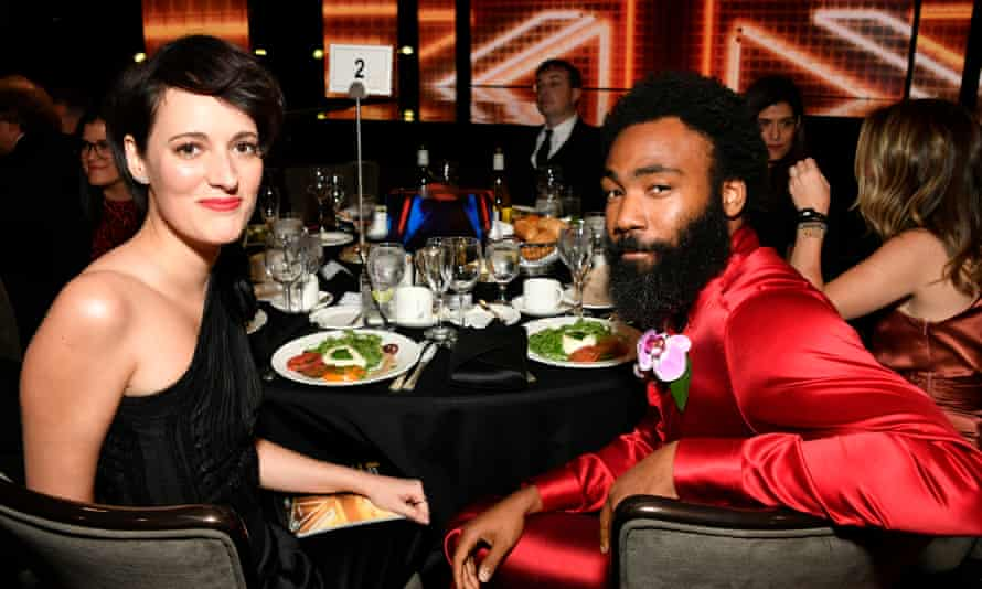 The future Mr and Mrs Smith … Phoebe Waller-Bridge and Donald Glover.