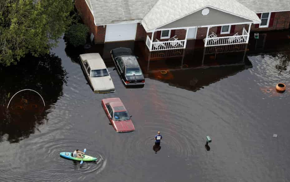 Flooding in Fayetteville after the hurricane.