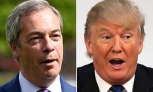 Nigel Farage (left) and Donald Trump.