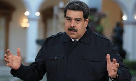 Nicolás Maduro speaking in the video