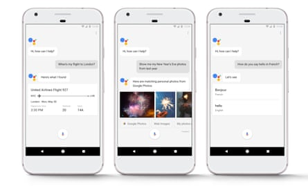 Google Assistant on the Google Pixel phone.