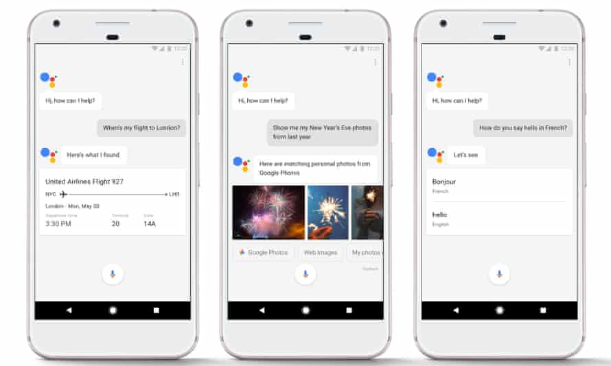 Google Assistant on the Google Pixel phone