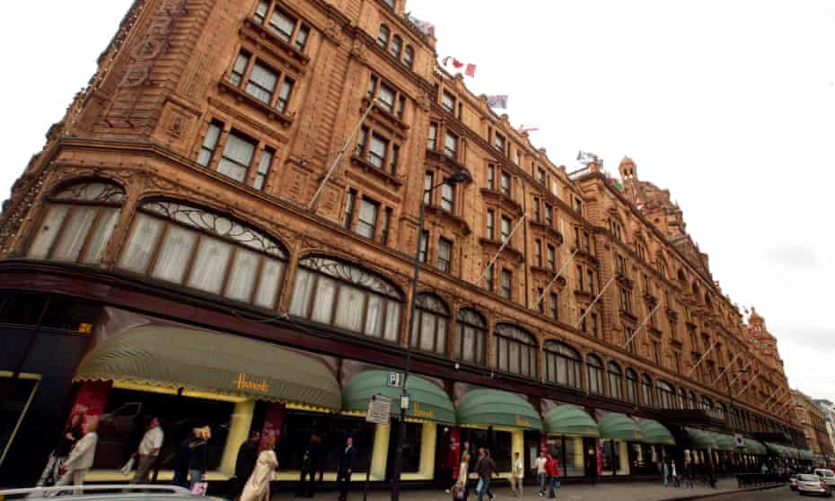 Niche branding ... Harrods department store in London.