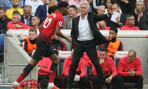A frustrated José Mourinho
