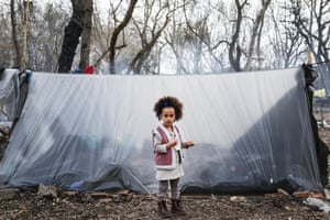Edirne, Turkey. An asylum seeker in Edirne waits at woodland near a buffer zone along the Kastanies and Pazarkule border, hoping that Greece will open the border gate.