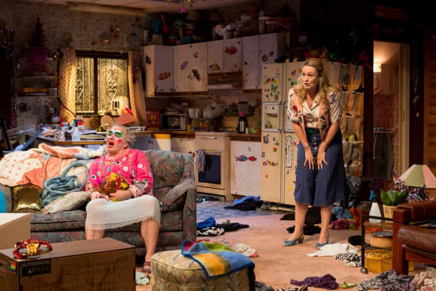 Arnie (Greg Stone) and Paige (Helen Thomson), in Belvoir Street theatre's production of Taylor Mac's play Hir