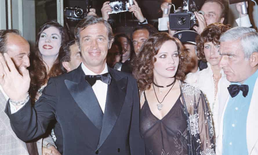 Jean-Paul Belmondo and Laura Antonelli in Cannes, 1971.