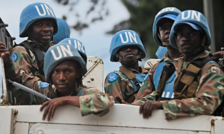 United Nations peacekeepers from South Africa deployed in the Democratic Republic of the Congo.