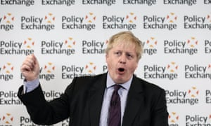 Boris Johnson gestures as he delivers his 'Road to Brexit, a United Kingdom' speech in London yesterday.