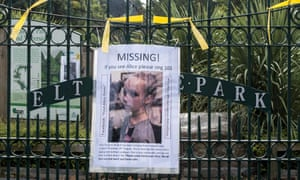 A missing poster is placed in an area close to where schoolgirl Alice Gross went missing in Hanwell, London.