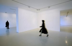 Sol Lewitt's wall drawings at the Lisson Gallery, London
