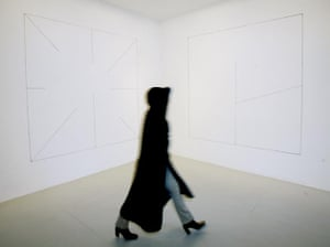 Sol Lewitt's wall drawings at the Lisson Gallery, London, 2006.