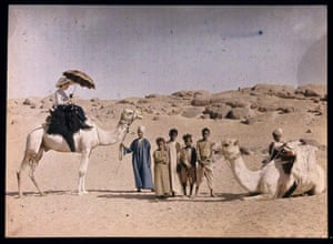 Elsa Paneth on a camel