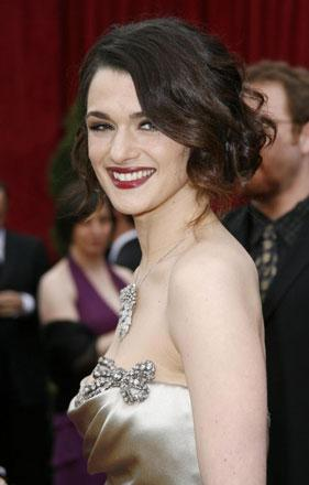 Rachel Weisz in - we understand - Vera Wang. Weisz is presenting this year, which is code for winning nothing.