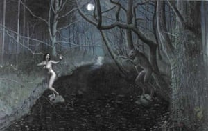 Stuart Pearson Wright – Woman surprised by a werewolf