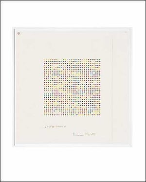 Damien Hirst 1,6 - Hexanediamine signed and titled coloured pencil on paper (spot size one centimetre) sheet size: 123.9 by 123.9cm.; 48 3/4 by 48 3/4 in. Executed in 2008. £30,000 to £40,000