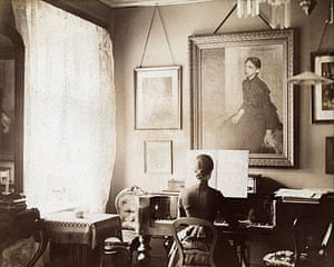 Photograph from the home of Vilhelm Hammershøi's parents, circa 1890.