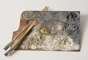 The palette of Vilhelm Hammershøi