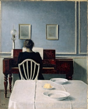 Interior with Woman at Piano