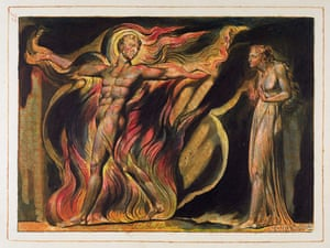 A Naked Man in Flames, plate 26 from William Blake's Jerusalem