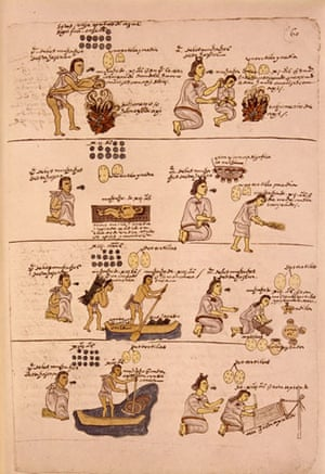 Aztec: Codex Mendoza, illuminated manuscript now in