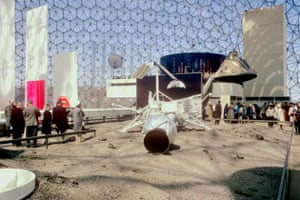 A simulated lunar landscape, Sea of Tranquility, at the Canadian World Exhibition in Montreal 1967