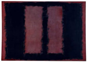 "Mark Rothko Black on Maroon Sketch for ""Mural No.6"" 1958"