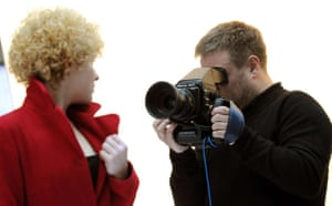 Anne Oelmann being photographed by Rankin