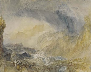 JMW Turner's The St Gothard Pass at The Devil's Bridge