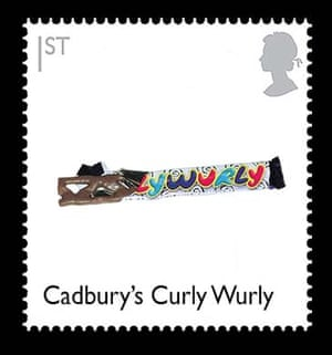 British design stamps alternative: Curly Wurly