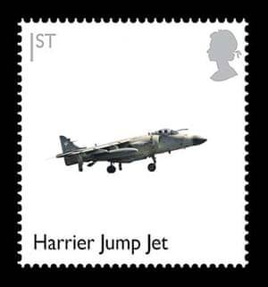 British design stamps alternative: Harrier Jump Jet