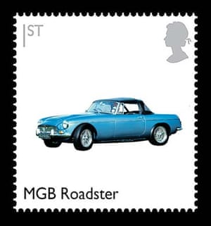 British design stamps alternative: MGB Roadster